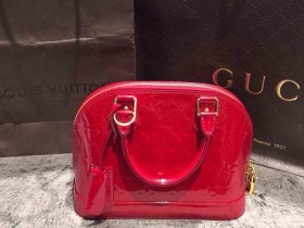 二手Louis Vuitton alma bb 红色 99新